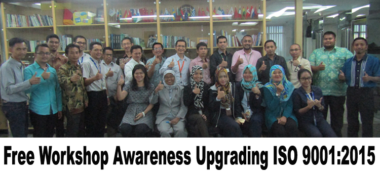 Free Workshop Awareness Upgrading ISO 9001 2015